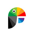 colorful parrot as logo vector image vector image