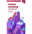 content marketing banner vector image