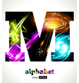 Design Abstract Letter M vector image vector image