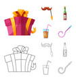 design of party and birthday sign vector image vector image