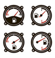 fuel gauges set vector image