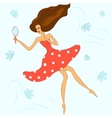 Girl is being gone with the wind vector image vector image