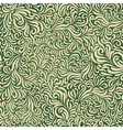 green colored abstract fantasy pattern vector image vector image
