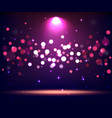 illuminated stand stage scene podium with spot vector image vector image