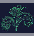 lace pattern with a flower vector image