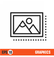 lines icon black banner isolated vector image vector image