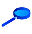 magnify glass icon isometric style vector image vector image