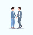 man gay holding engagement ring proposing vector image