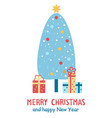 merry christmas and happy new year congratulation vector image vector image