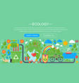 modern flat infographic ecology concept green vector image vector image