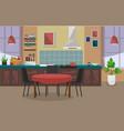 modern kitchen interior vector image vector image