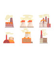 modern power plants collection refinery gas vector image vector image