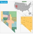 Nevada map vector image vector image