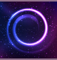 night starry sky with spiral element vector image vector image