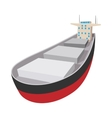 Oil tanker cartoon icon vector image