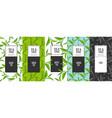 organic tea frame labels vector image vector image