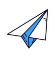 paper plane isometric icon sending message vector image