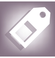 Price tag icon with shadow vector image vector image