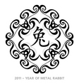 Rabbit year symbol vector