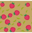 Raspberry cartoon seamless texture 652 vector image vector image