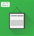realistic photo frame icon business concept vector image vector image
