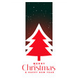 red christmas tree background design vector image vector image