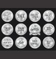 Retro vintage sale silver badge and labels