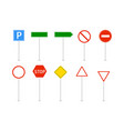 road signs isolated vector image