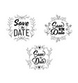 save date lettering collection for wedding vector image vector image