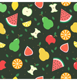 Seamless background with different fruits vector image
