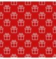 Seamless red pattern with gift boxes vector image vector image