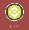 set of physical golden coin binance coin bnb vector image vector image