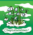 spring snowdrops hand drawn vector image