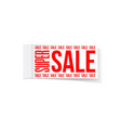 super sale sticker special offer banner vector image vector image