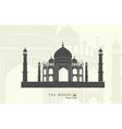 Taj Mahal in India vector image