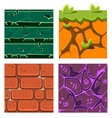 Textures for Platformers Icons Set of Gems vector image vector image