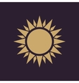The sunshine icon Sunrise and sunshine weather vector image vector image