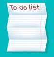 to do list in line on a blue background vector image