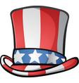 uncle sam top hat american cartoon vector image