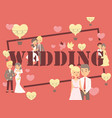 wedding typography poster vector image
