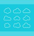white clouds collection in linear design white vector image vector image