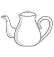 white teapot vector image vector image