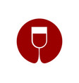 wine glass logo sommelier emblem abstract red vector image vector image