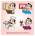 Working men cartoon vector image