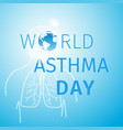 world asthma day blue background with lungs