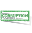 Green outlined CORRUPTION stamp vector image