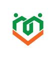 love healthcare icon logo vector image