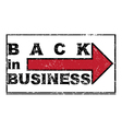 back in business vector image