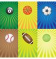 balls for sport games vector image