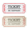 ordinary and golden tickets vector image